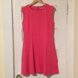 Pink textures dress